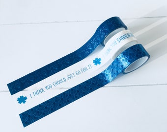 Set of 3 foil washi tapes, with foil details (W02)