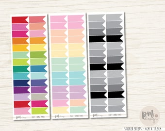 Large Flag Stickers - Planner Stickers - FL07