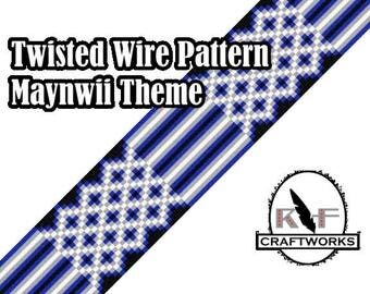 Loom Beading Pattern - Twisted Wire (Maynwii Theme)