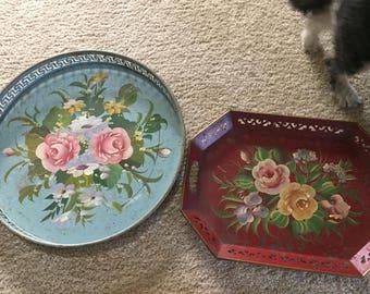 Vintage flower trays