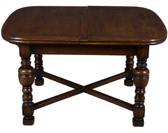 Antique English Oak Large Extending Pub Table