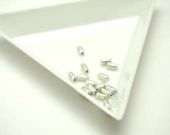 Silver 925 grain of rice 3x2x2mm 20 beads