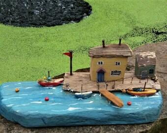 Sea scape driftwood