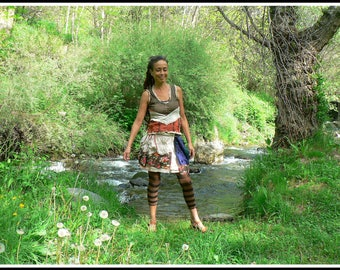 patchwork spring skirt