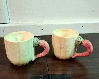 Pair of Fitz and Floyd Carrot Cups