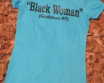 Black woman goddess AF