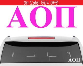 50% OFF! Alpha Omicron Pi Decal | A O Pi Decal | Sorority Car Decals, Sorority Vinyl Decal, Sorority Laptop Decal, Sorority Decal