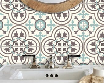 Tile Stickers Vinyl Decal WATERPROOF REMOVABLE For Kitchen Bath WAL Floor  Or Stair: M300