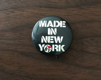 Made in New York Vintage Button