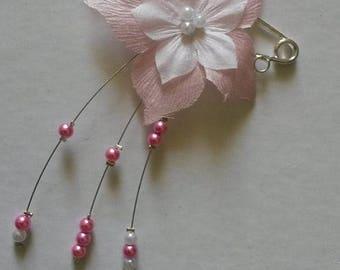 tie behind silk pink and white wedding flower