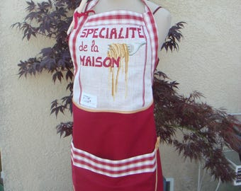 APRON EMBROIDERED LINEN HOUSE SPECIALTIES