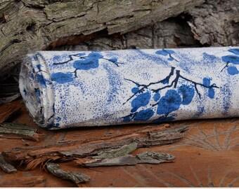 blue white cotton fabric Mechua 3 m