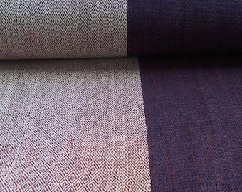 handmade clothing blue beige 2 m cotton fabric