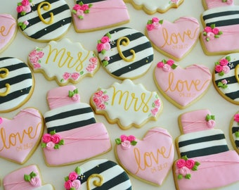 Bridal Shower Cookies, Kate Spade