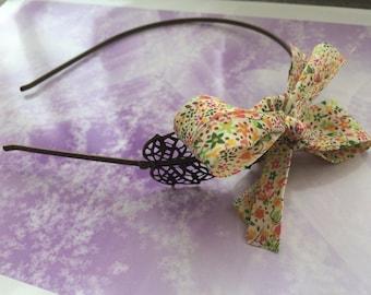 romantic headband Liberty and bronze