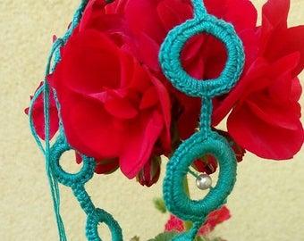 Blue Crochet Bracelet