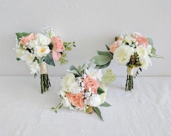 Bridesmaid Bouquet, Wedding Bouquet, Bouquet Set, Silk Flower Bouquet, Wedding Flowers, Silk Bouquet, Wedding Package, Flower Bouquet