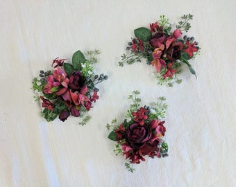 Corsage, Wedding Corsage, Flower Corsage, Succulent Corsage, Rustic Corsage, Silk Flower Corsage, Wedding Flowers, Mother's Corsage