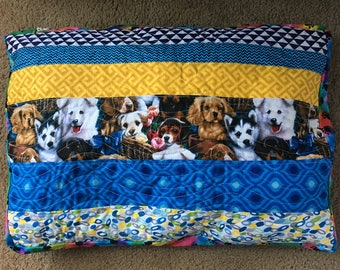 Small Dog Bed - Handmade Quilted