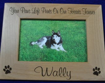 Pet Frame ~ Dog Frame ~ Pet Loss Gift ~ Engraved Frame ~ Loss Of Pet Frame ~ Loss Of Cat Gift ~ Pet Picture Frame ~ Gift For Pet Loss ~ Cat