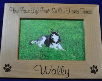 Pet Frame ~ Dog Frame ~ Pet Loss Gift ~ Engraved Frame ~ Loss Of Pet Frame ~ Loss Of Cat Gift ~ Pet Picture Frame ~ Gift For Pet Loss ~ Cat