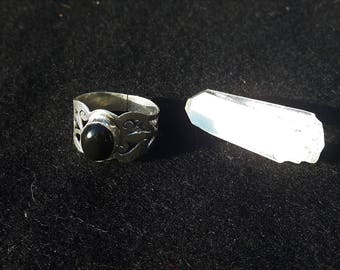 60 silver Onyx ring