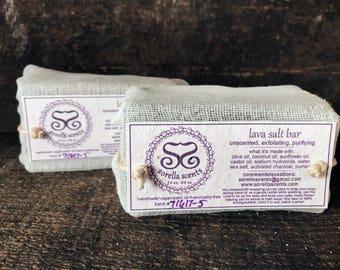 Lava Salt Bar - Unscented Vegan Soap Bar