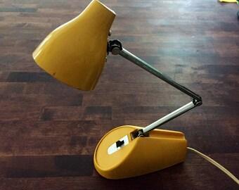 Vintage Yellow 60s Hamilton Industries Desk Lamp - So Retro!!!!