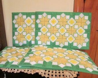 Placemats Quilts Design Set of 4