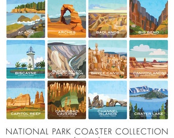 Build Your Own Coaster Set of 4 - National Parks - NEW COASTERS ADDED February 2018!
