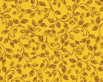 Leaf Into Autumn Gold Scroll 08321-33 from Benartex