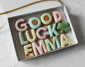 Personalised Good Luck Cookie Gift Box For Her