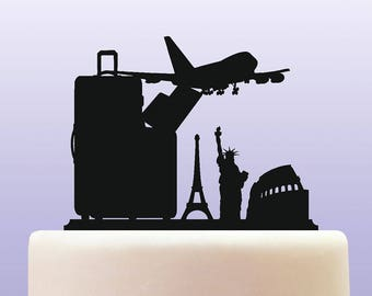 Acrylic Travel And Tourism Cake Topper Decoration