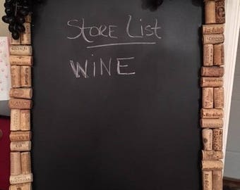 wine corks chalk board message board cork board grapes