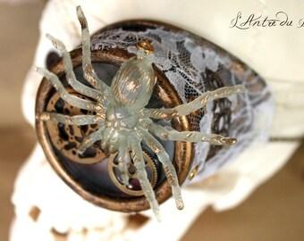 "Monocle de lunettes goggles steampunk victorien ""Spider's gears"""