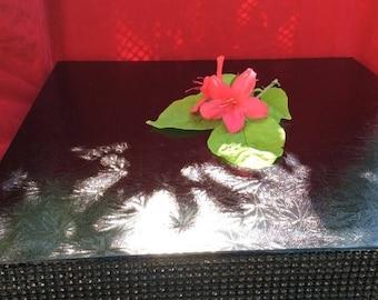 SALE Wedding Cake Stand, BLACK, Wedding Cake Base, Cake Riser, Diamond Mesh Crystal Cake Stand,Wedding Cake