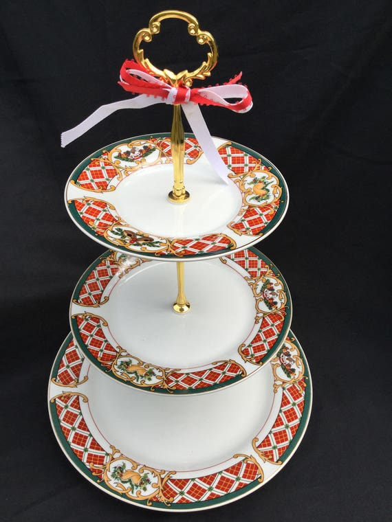 Il_570xn & CHRISTMAS CAKE STAND 3 Tier Serving Tray by Cake Stands Boutique ...