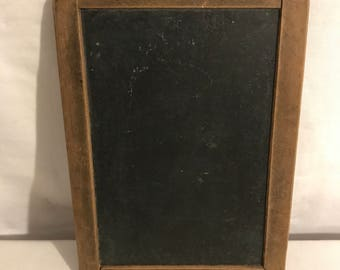 Old school slate Double sided + Vintage wooden frame