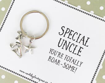 Special Uncle You're Roar-some Dinosaur Keyring gift