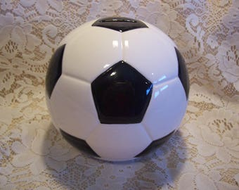 Ceramic Soccer Ball Bank