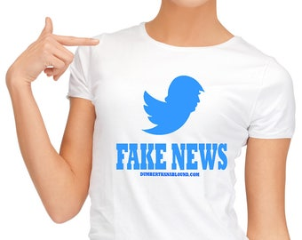 Fake News in white S-4XL