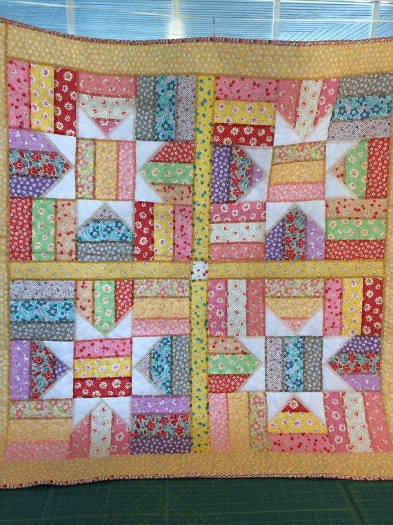 Fence Rail Star Quilt/quilts for sale/baby blanket/baby