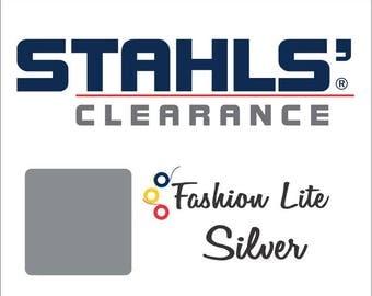"12"" x 15"" - 15 Craft Sheets - Stahls' Fashion Lite - Smooth – Iron-on - Heat Transfer Vinyl - HTV - Silver"