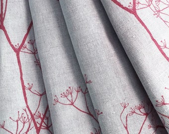 High Quality Made To Measure Curtains  Red Curtains  Lined Curtains  Cowslip  Trees   Plants