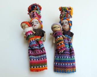 Cute Fridge Magnets, Guatemala Worry Doll, Mexican Magnets, Kitchen Decor, Unique Gifts, Worry Dolls