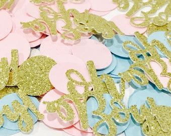 100ct oh boy! Confetti. Oh boy confetti, Baby shower confetti,  boy confetti, Gender reveal confetti