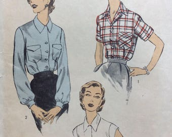 Advance 6426 misses blouse size 16 bust 34 vintage 1950's sewing pattern