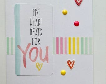 Love Greeting Card - Romantic Card - Wedding Anniversary Card - Anniversary Card