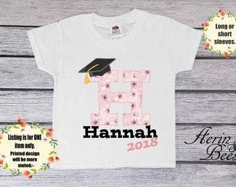 Girls Graduation Tee; 2018 Graduation Toddler Tee; Girls Graduate Youth T-Shirt; Personalized Toddlers Graduation T Shirt: G1608