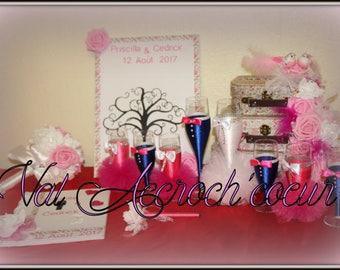 Set of wedding romantic bucolic theme